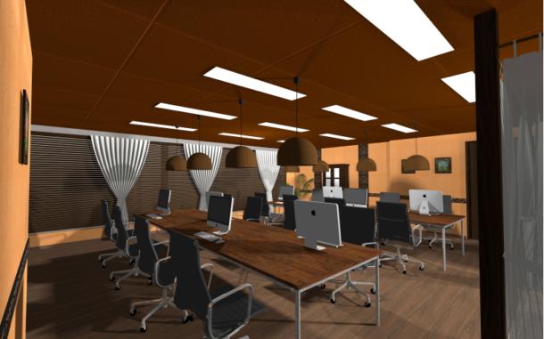 バリ島コンドミニアムをイメージした作業スペース