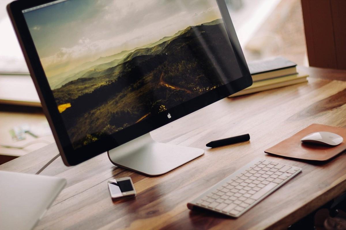 オフィス パソコンの向きを変える